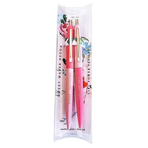 Girl Power Pen Set, Women Empowerment Gift, Pink Office Decor, Chic Office, Gold Office Décor, Motivational Inspirational Gift For Her