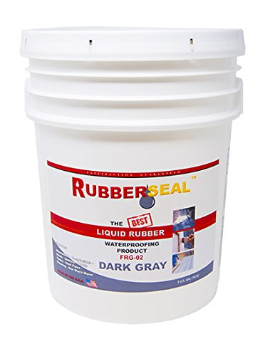 Rubberseal  液体ゴム  防水  &  プロテクティブコーティング 5 Gallons FR 5 Gallons ダークグレー ダークグレー 5 Gallons B071KSZQ5Y