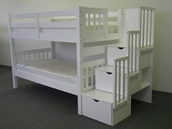 You Me Etagenbett Holz : Stairway etagenbett twin über kiefer weiß over