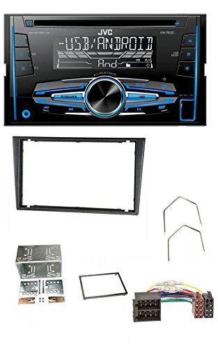 caraudio24 JVC KW-R520 MP3 USB CD 2DIN Aux Autoradio fü r Opel Combo C Corsa C Tigra Meriva 00-04 Metallic