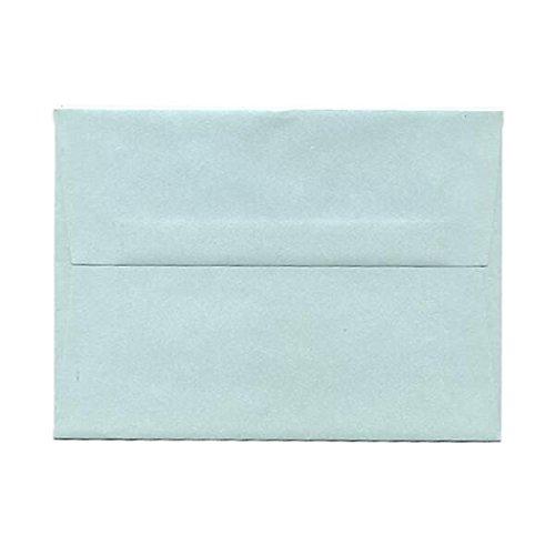 JAM PAPER A6 Metallic Invitation Envelopes - 4 3/4 x 6 1/2 - Aquamarine Stardream - Bulk - Envelopes Metallic Stardream A6