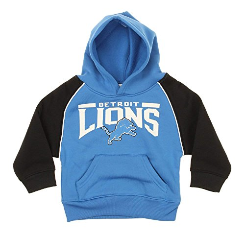 Outerstuff NFL Little Boys Toddlers Performance Pullover Fleece Hoodie, Detroit Lions (Lions Toddler Fleece)