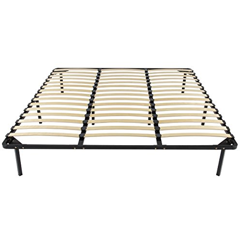 Best Choice Products King Size Metal Bed Frame Wooden Slat Platform Bedroom Mattress Foundation w/Bottom Storage, Black