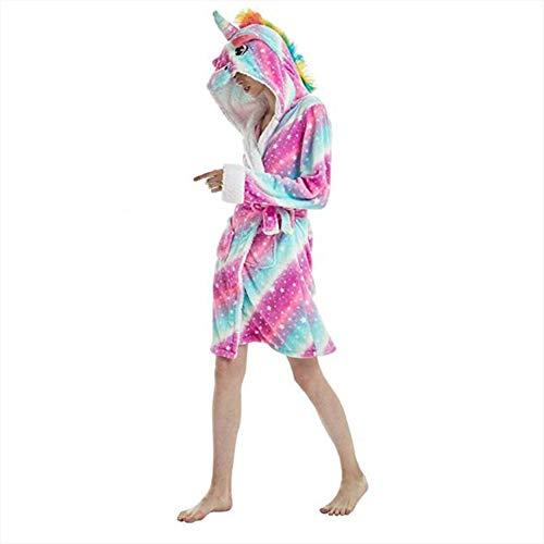 XIAOKEAI Pijamas Albornoz Encapuchado, Unicornio Batas de Baño Onesie Pijamas de Animales Camisón de Dibujos Animados Suave Bata de Dormir: Amazon.es: ...