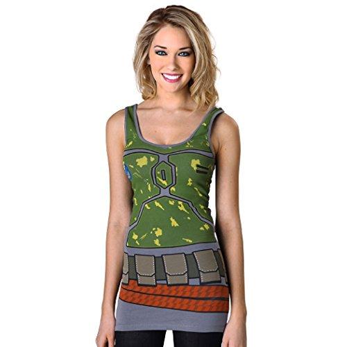 Boba Fett Woman Costume (Star Wars Boba Fett Costume Junior Tunic Tank Top-Junior X-Large [JXL])