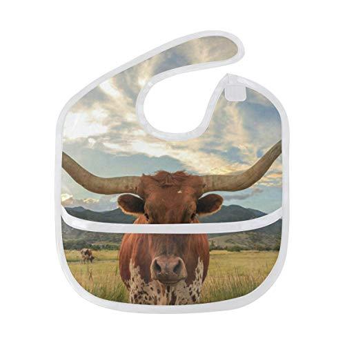- Baby Bibs Texas Longhorn Steer Large Teething Unisex Waterproof Drooling Bib/Smock
