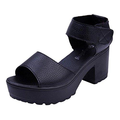 Beste Tijd Wiggen Sandalen Vrouw Platform Mode Casual Solide Visser Sandalen Zwart