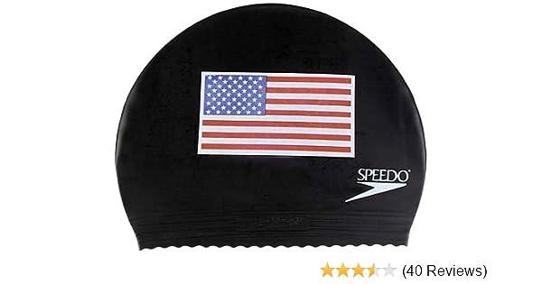 Amazon.com   Speedo Latex  Flag  Swim Cap 74b8eab912a3