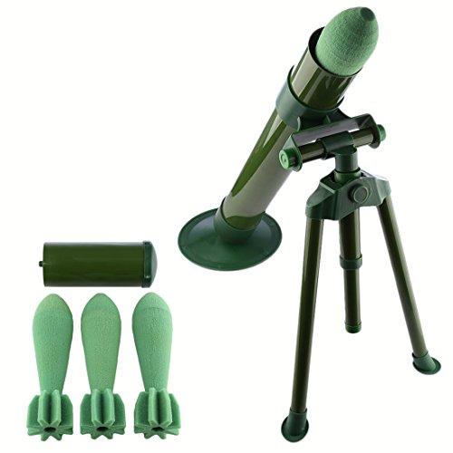 Goshfun Worker Tactics Mortar, 60mm Caliber Giant Foam Soft Bullet Blaster for Nerf CS Battle Tactics - Dark Green -