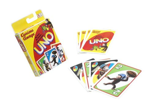 MY FIRST UNO KING-SIZE Card Game with Curious George