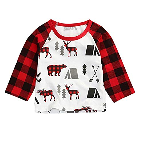 MAMOWEAR Baby Kids Girls Christmas Blouse Ruffles Long Sleeve T-Shirt Tops Clothes (Black 2, 2-3 T) ()