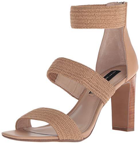STEVEN by Steve Madden Women's Jelly Heeled Sandal, Natural Multi, 8.5 M US ()