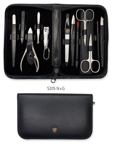 Drei Schwerter   Exklusives 12-teiliges Maniküre - Pediküre - Nagelpflege-Set / Etui   Qualität - Made in Solingen (520500)