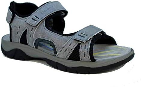 Stonefly 108692 123 Mark 1 Leather Sandalen Heren Blusoft Memory Cement grijs 43 EU
