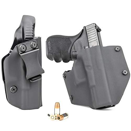 R&R Holsters OWB & IWB Combo Pack - Black (Right-Hand, Glock 19,19X,23,32,45 Gen 1-5) (Best Owb Holster For Glock 19 Gen 4)