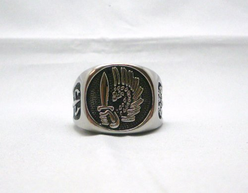 French Foreign Legion Warrior's and Mercenary Ring Sz (Lorraine Ring)