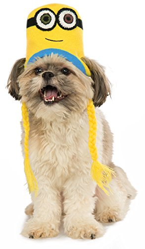 Minion Bob Knit Dog Headpiece, Medium/Large]()