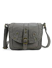 Scarleton Soft Washed Studded Belt Accent Crossbody Bag H1821