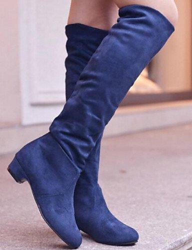 Eu36 De Vestido us6 Comfort Mujer 5 Eu39 Marrón Zapatos Blue us8 Cn36 Azul Brown Casual Bajo 5 Cn40 Uk4 Uk6 Piel Negro Botas Tacón Sintética Xzz 05gBqx