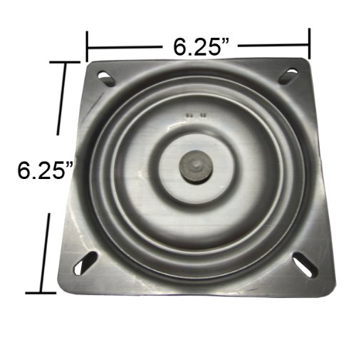 "6.25"" Replacement Bar Stool Swivel Plate - Made in the USA -"