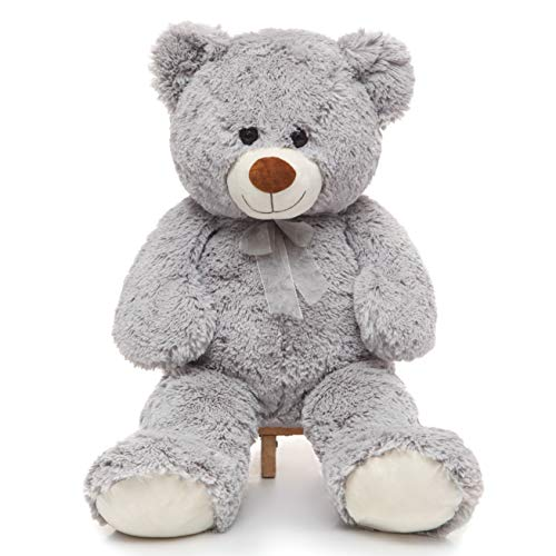 Toys Studio 36 inch Big Teddy Bear Cute Giant Stuffed Animals Soft Plush Bear for Girlfriend Kids, Grey