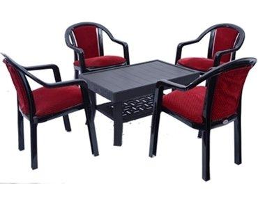 Mavi Unique Red Black Outdoor Set