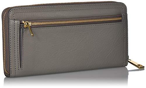 Fossil Women's Logan Leather RFID-Blocking Zip Around Clutch Wallet with Wristlet Strap 2