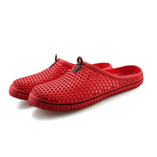 Saguaro Maglia Giardino Zoccoli Scarpe Sandali Indoor / Outdoor Pantofola Unisex Donna Uomo Rosso