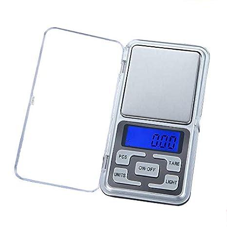 ZHANGYUGE Báscula de Cocina electrónica LCD Digital Pocket Escala balanza portátil pesaje de precisión Herramienta de