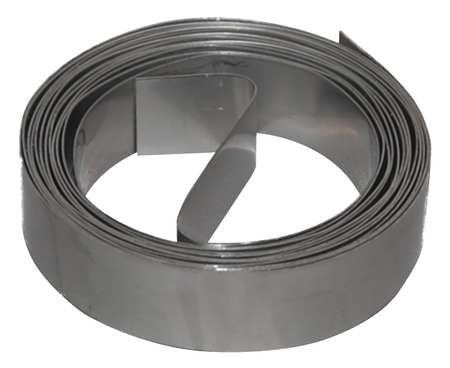 Duct Strapping, 10 Ft L, Galv Steel