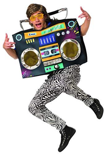 Old School Halloween Costumes Box (Rasta Imposta 1980s Boombox Radio Costume Mens Womens 80s 90s Party Funny)