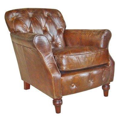 Ancient Mariner Piel Vintage botón Back sillón: Amazon.es: Hogar
