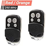 2 Pack - Replacement for LiftMaster 970LM 971LM 972LM 973LM - Chamberlain 953CB - Craftsman 139.53681 Remote - Compatible with Garage Door Openers with Red Orange Learn Button 390MHz (C-SP-390)
