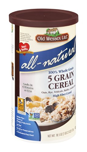 Old Wessex Ltd. All-Natural 5 Grain Cereal, 18.5-Ounce Canisters (Pack of 12)