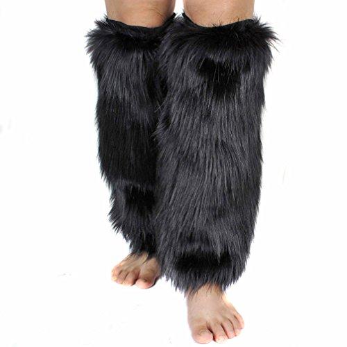 Cuffs Leg Party Set Gloves Girl FingerlessFur Fur B Faux Women Shoes Warmers Boots Costume RUxtgPgn