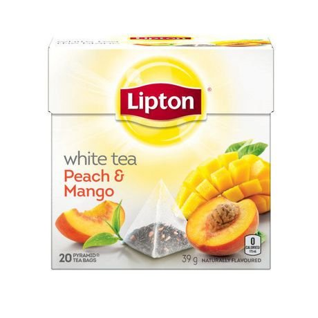 Lipton White Tea Peach & Mango Pyramid Tea Bags 20 Tea Bags
