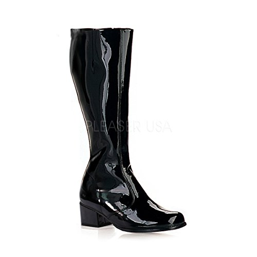 Funtasma Women's Gogo Knee-High Boot,Black Patent,6 M -