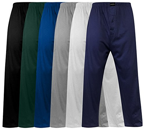 Andrew Scott Men's Pack of 6 Lightweight 100% Cotton Yoga Lounge & Sleep Pant (MEDIUM, 6 Pack-Assorted Color) by Andrew Scott