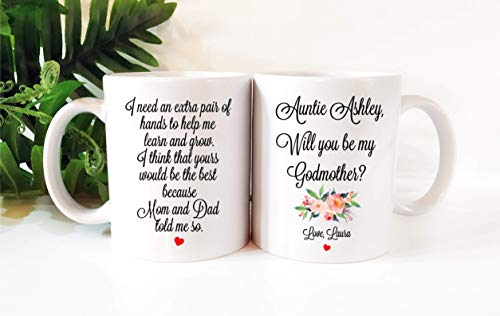 Personalized 11 oz Godmother Proposal Coffee Mug, Will You Be My Godmother]()