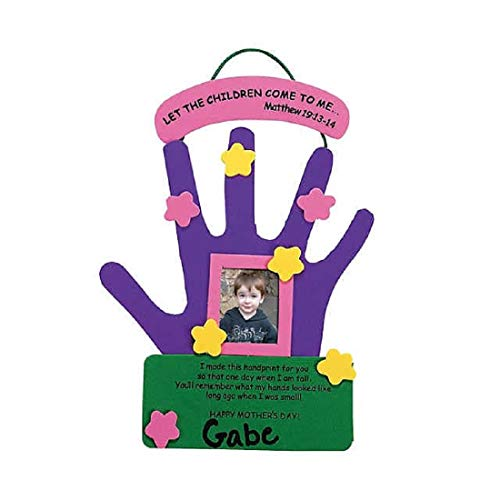 Mother's Day Hand Keepsake Craft Kit (12 Count)/School Craft/Photo Frame/Day Care/Childrens Craft
