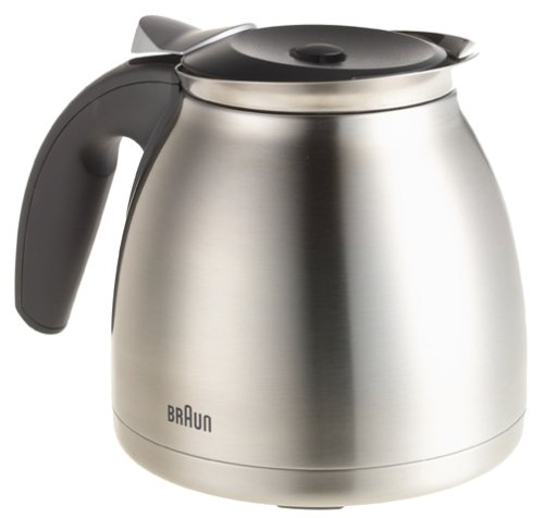 Braun Coffee Maker With Stainless Steel Carafe : Braun KF600 Impressions 10-Cup Thermal Coffeemaker, Brushed Stainless Steel I-Need-Coffee.com