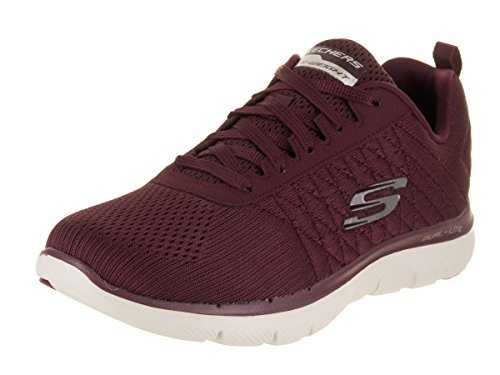 Skechers Women's Flex Appeal 2.0 - Break Free Burgundy Casual Shoe 7 Women US by Skechers