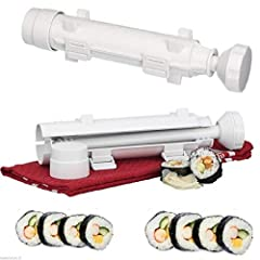 Features:  - Makes perfectly round, restaurant-quality sushi at home  - Includes sushi tube, plunger, and endcap  - Easy to use; add ingredients and plunge rice onto nori sheet  - Dishwasher safe  Specifications: - Color: As picture show - Ma...