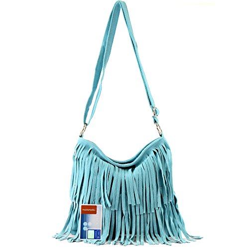 véritable main à cuir sac en T02 Hellblau femme cabas sac à italien Sac bandoulière vw65qx