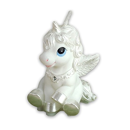 Baby Birthday Candle Unicorn Cake Topper with Greeting Card in Gift Box (White) from Sweet Homes & Gardens