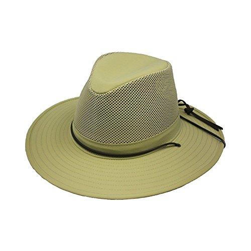 Henschel Hats Aussie Breezer 5320 Firm Mesh Khaki Hat, Medium