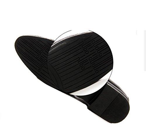 WZG zapatos casuales de la moda de los nuevos hombres señalaron los zapatos de vestir zapatos de encaje de los asuntos de los hombres de Inglaterra Black