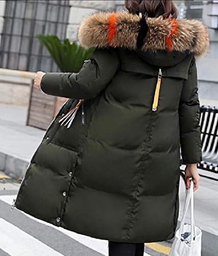 1 Puffer Assetto Di Lungo Cappotto Soprabito Ispessiscono Parka Donne Delle Incappucciati Il Sicurezza Inverno Pelliccia Bq6ZHw