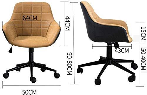 Barstolar Xiuyun hem kontor skrivbordsstol spelstol datorstol uppgift skrivbord stol mottagningsstol böjt ryggstöd bärande vikt 200 kg flerfärgat valfritt (färg: Ljusgrå)