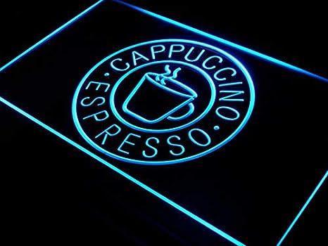 ADVPRO Cartel Luminoso i329-b Espresso Cappuccino Coffee Cup ...